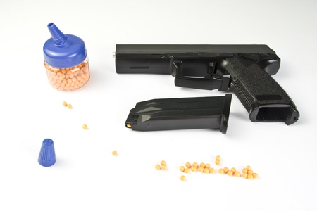 Air gun set. Gun and pellets Stock Photo - 18103089