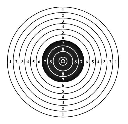 target shooting: Shooting target. Isolated