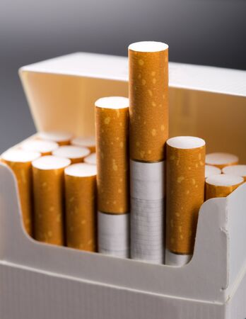 tobacco: Close-up of cigarettes in pack