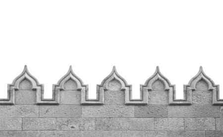 fortify: Medieval arch wall isolated on white
