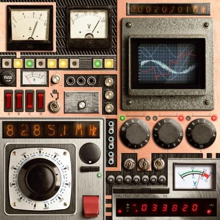 tablero de control: Panel de control de un dispositivo de investigaci�n vendimia