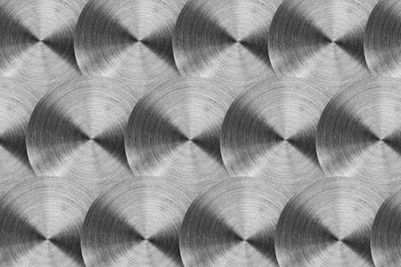 radial background: Radial stainless steel surface. Isolated on white Stock Photo
