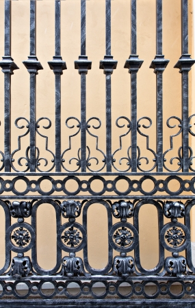 Detail of a old iron gate photo