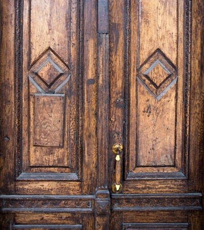 Old weathered wooden door background Stock Photo - 18195315