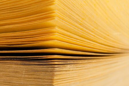 yellow pages: Close-up abstract view of yellow pages book