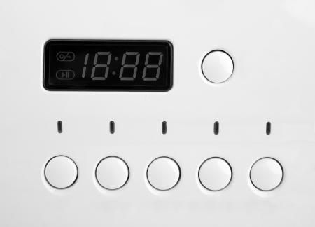 control panel: Primer plano del panel de control de la m�quina de lavar