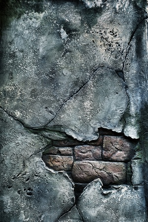 Old damaged brick wall. Use for background photo