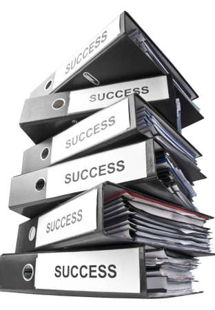 ring binder: Heap of binders. Isolated Stock Photo