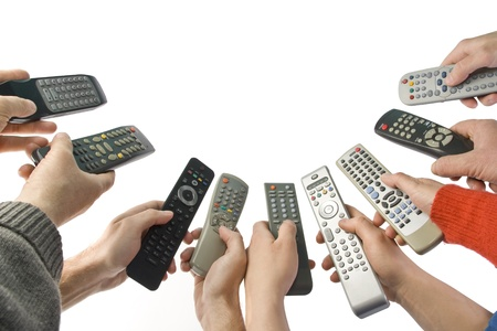 remote control: Remote controlers with many hands