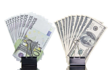 Dollar and euro Stock Photo - 18190688