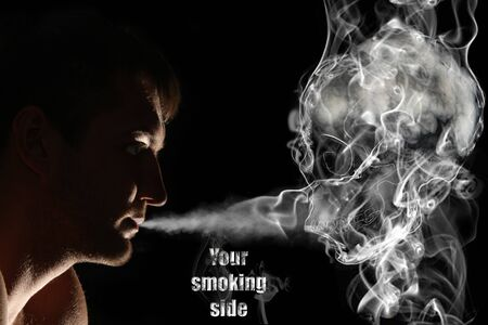 Smoker and death. You smoking side concept photo