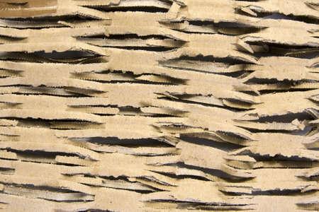 cutted: cutted cardboard background closeup Stock Photo