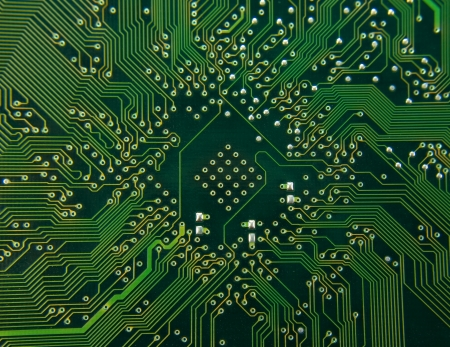 chip and pin: Computer electronic circuit. Use for background or texture