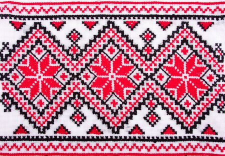 needlecraft product: Ukrainian traditional embroidery patterns. Use for background Stock Photo