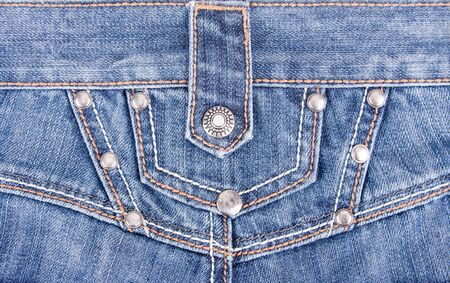 Close up of blue jeans back view photo