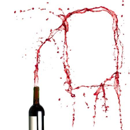 Plantilla en blanco de salpicaduras de vino tinto