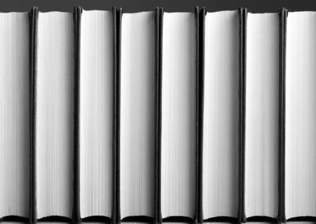 book spine: Row of books. Background or texture