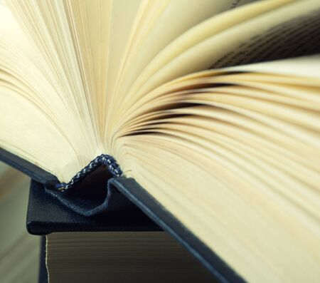 hardcovers: Closeup view of hardcover book