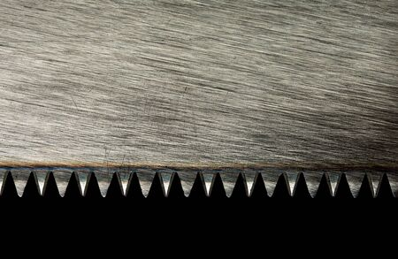 Closeup of saw blade isolated on black Stock Photo - 18312232
