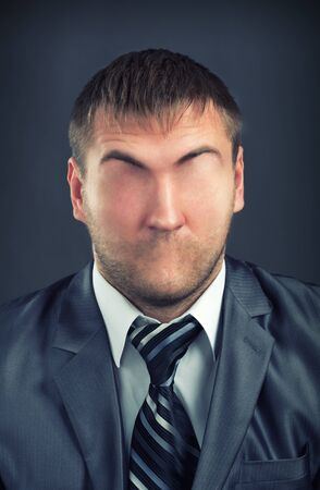 emotionless: Portrait of businessman without face