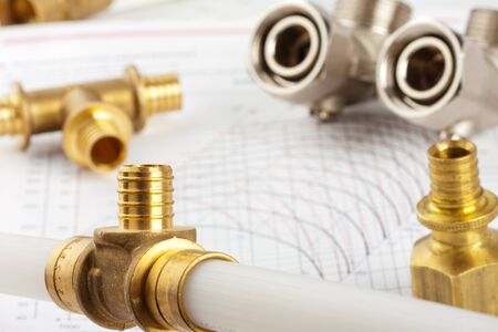 plumbing supply: Plumbing supplies - pipes, accessories, documentation and valves