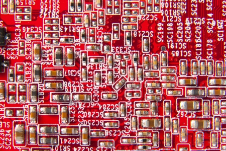 Computer motherboard circuit. Use for texture or background photo