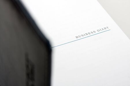 open diary: Close-up view of an open business diary Stock Photo
