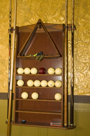 billiards room: Set for russian billiards