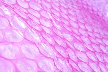 air bubbles: Pink plastic protective bubble wrap