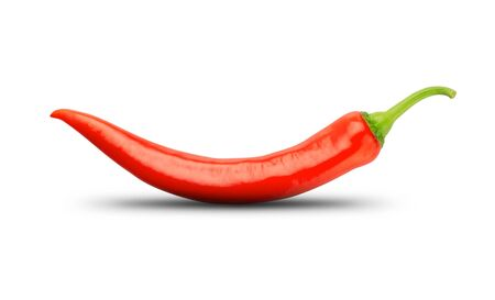 chili pepper: Red chili pepper isolated on white Stock Photo