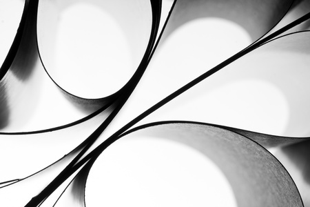 arte moderno: Curvas abstractas de papel. El uso para el fondo o textura