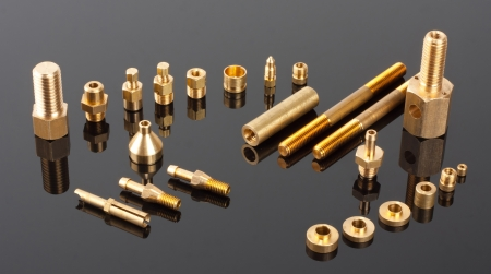 Set of brass mechanical spare parts Stock Photo - 18396709