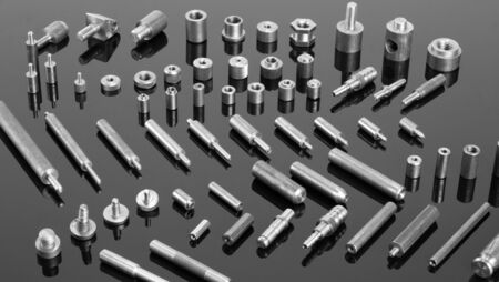 spare parts: Set of mechanical spare parts Stock Photo