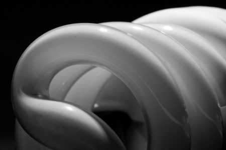 socle: Close-up of energy-saving compact fluorescents light bulb