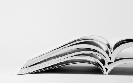 apilar: Pila de los catálogos comerciales