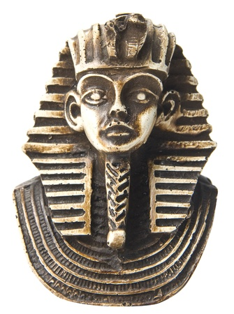 esfinge: Sphinx cara. Aislado Foto de archivo