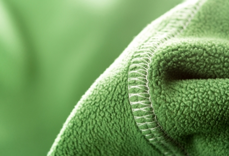 Green soft synthetic fleece from sport clothing photo