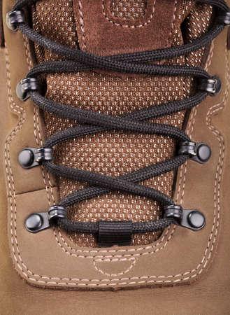 extreme macro: Closeup view of hiking boot
