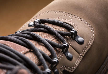 Closeup view of new hiking boot Stock Photo - 18560673