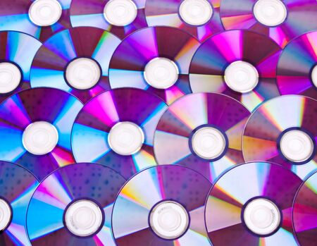 recordable media: Close-up of CDs. Use for background or texture