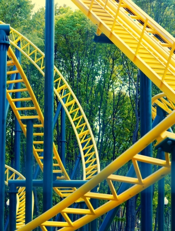 Roller coaster amusement in park photo