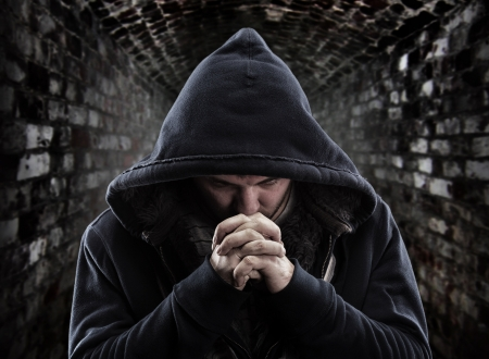 repentance: Despair bandit praying God for forgiveness