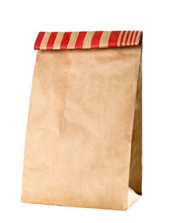 Closeup of a brown paper bag photo