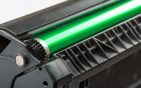 toner: Closeup of printer toner cartridge
