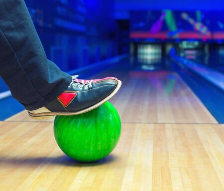 superiority: Preparing to strike on a bowling ball