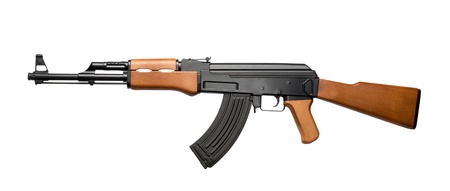 assault rifle: Russian assault rifle AK-47 isolated on white Stock Photo
