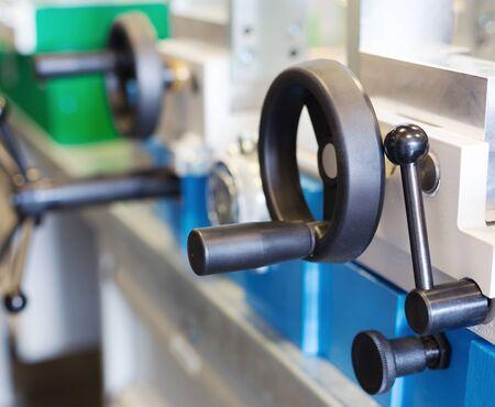 palanca: La palanca de la m�quina en el taller