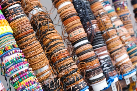 Many various leather and textile bracelets Stock Photo - 19490115