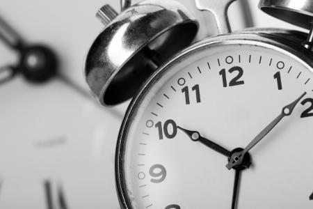 Closeup of classical alarm clock photo