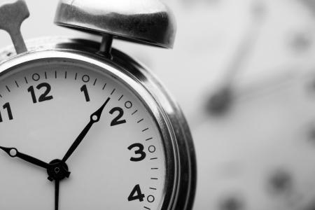 beat the clock: Closeup of classical alarm clock